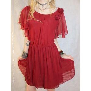 LIKE NEW Forever 21 Loose Sheer Rose Formal Dress